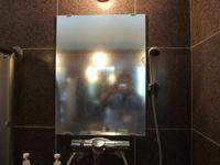 風呂鏡水垢取り前2